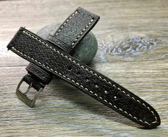 Leather Watch Strap, 20mm, Leather Watch Band 19mm, Distress Brown watch strap, Mens watch wrist band, 18mm, Christmas gift for him