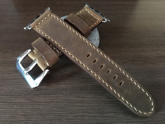 Apple Watch Band | Apple Watch Strap | Vintage Leather Watch Band | Brown Leather Watch Strap For Apple Watch 38mm & Apple Watch 42mm