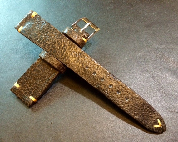 Watch Band, Leather watch strap, Brown watch Strap, Cracked pattern, Strap Replacement, 20mm watch band, watch band for , FREE SHIPPING