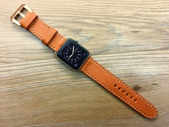 Apple Watch Band, Apple watch Series 6, 40mm, Apple Watch 44mm, Orange Apple Watch Strap, Apple Watch 42mm, Space Gray, product Red