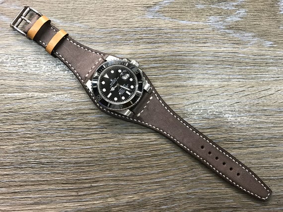 Leather Watch Strap, Gift Ideas for Husband, Brown Leather Watch Band in 19mm 20mm, Mens Wristband, Mens Accessories, Watch Strap Leather