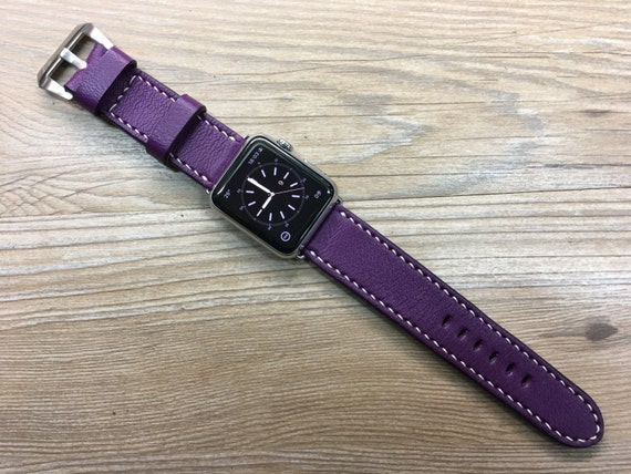 iwatch band, Apple Watch band, Apple Watch strap, Leather Watch band, Anemone, Apple Watch 38mm, Apple Watch 42mm, FREE SHIPPING