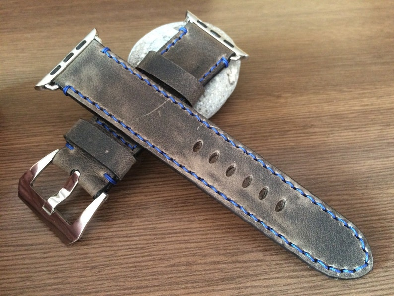 Apple Watch Band Vintage Gray Apple Watch Strap iWatch 42mm image 0