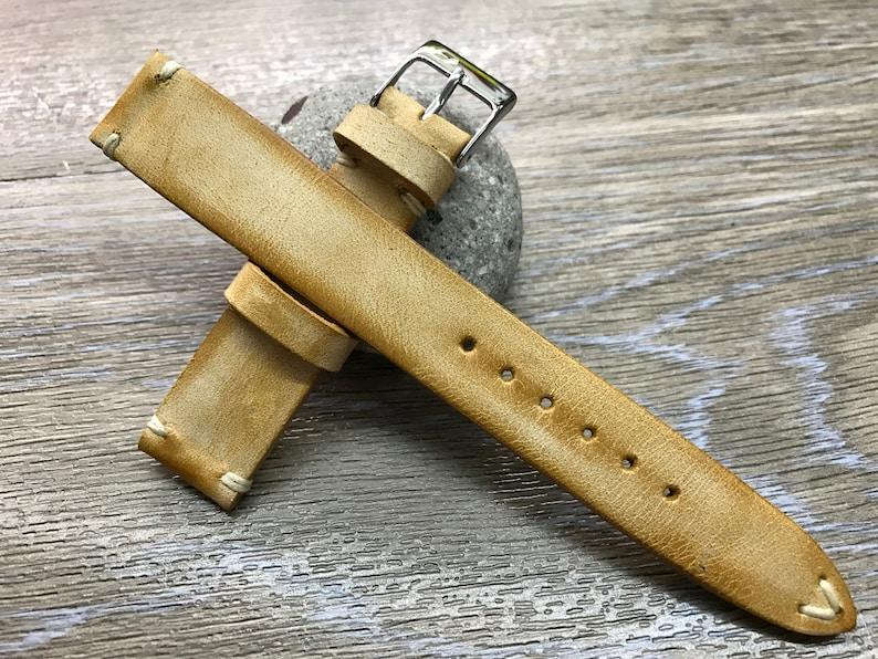 Watch strap 20mm Leather Watch Strap 19mm Leather Watch Band image 1