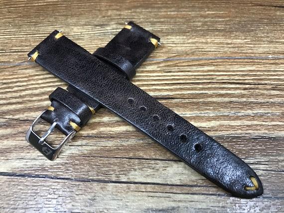Distress Brown watch strap, leather Watch strap 18mm, Leather Watch band, 19mm strap, strap replacement, Watch strap, 20mm Watch band