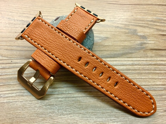 Leather Watch Band | Leather Watch Strap | Apple Watch Strap | Apple Watch Band | Autumn Blaze Leather For Apple Watch 38mm & 42mm