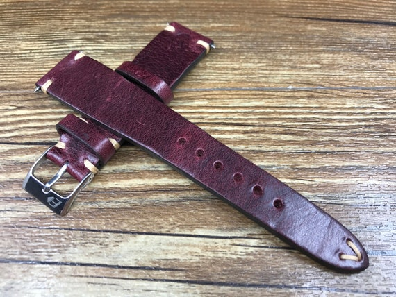 19mm watch strap, leather Watch strap 18mm, Leather Watch band, Brown, 19mm strap, strap replacement, Watch strap, 20mm Watch band