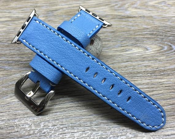 Apple Watch Band, Apple Watch 40mm, Apple Watch 44mm, Apple Watch 38mm, Apple Watch 40mm, Leather Watch Strap, Mykonos, IWATCH FREE SHIPPING