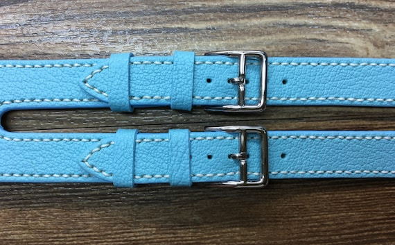 Apple Watch Band, Apple Watch Strap, Apple Watch Series 5, Double Buckle Cuff, Turquoise leather, Apple Watch 40mm, 44mm, 38mm, 42mm
