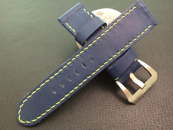 Grade AAA Real Leather strap for 24mm lug width Watch - 24mm/22mm (The strap are fit for all 44mm watches model) - Best Deal and Quality!!