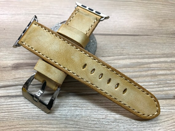 Apple Watch 38mm, Apple Watch band, Leather Watch Band, Beige Leather, Watch band, iwatch band, Apple Watch 42mm, FREE SHIPPING iwatch 38mm