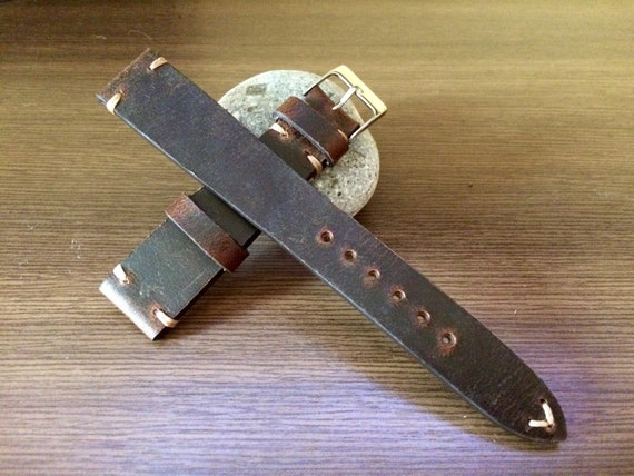19mm watch strap, leather Watch strap, Leather Watch band, Brown, 19mm strap, strap replacement, Watch strap, 20mm Watch band, FREE SHIPPING