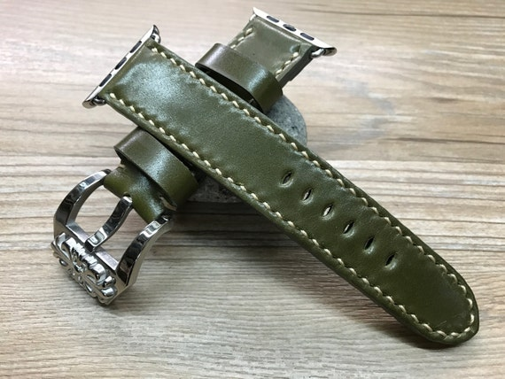 Apple Watch Band | Apple Watch Strap | Horween Shell Cordovan leather Handmade watch band For Apple Watch 38mm & 42mm - Series 1 and 2
