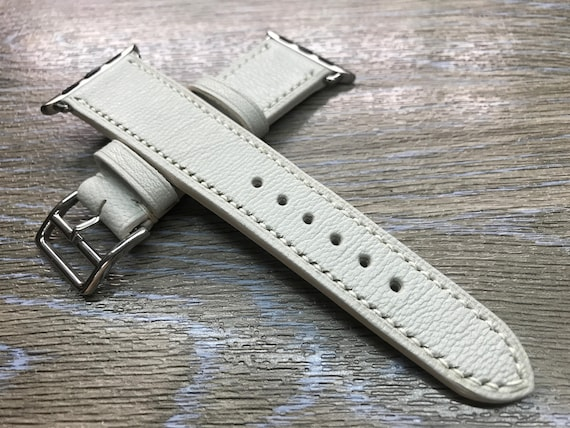 Apple Watch Band, Apple Watch 38mm, Leather Watch Band, Apple Watch 42mm, Apple Watch Strap, Cream White, iwatch 38mm, FREE SHIPPING