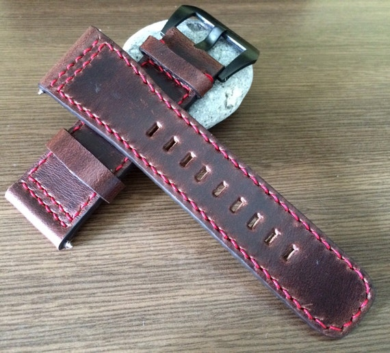 Leather watch Strap 28mm, Leather Watch Band, Brown watch band, 28mm Watch strap, 28mm watch band, FREE SHIPPING