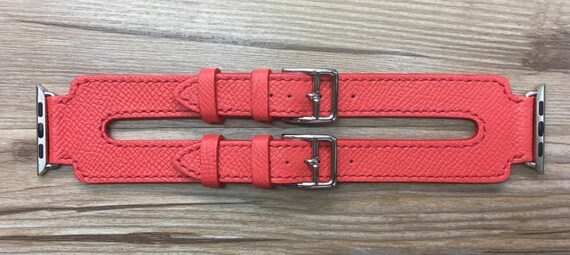 Apple Watch Band   Apple Watch Strap   Black Friday Sale, FREE SHIPPING   Rose Jaipur Epsom Double Buckle Cuff For Apple Watch 38mm & 42mm