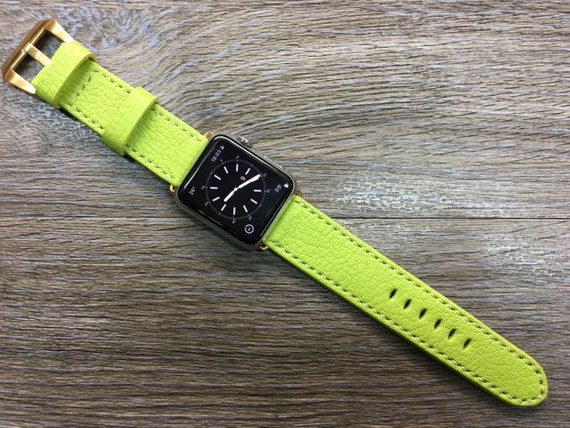Apple Watch band, Apple watch 38mm, Leather Watch Strap, Leather Watch Band, Kiwi Epsom, Apple Watch Strap, Apple Watch 42mm, FREE SHIPPING