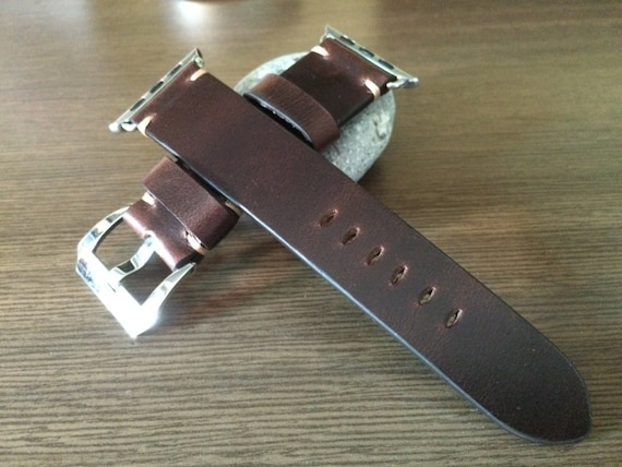 Apple Watch Band, Apple Watch Strap 38mm 42mm, Leather Watch Band, Brown Watch Strap, iwatch band, Handmade, Free Shipping, Series 1 & 2