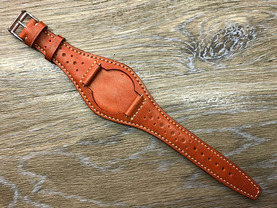 cuir manchette de 20mmbracelet la de cuir sangle bund mainmontre en de montre en fait en cuirbande à Bracelet manchette montre pleinbande cuir bgyYf67