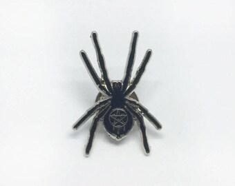 Black Widow Pin Badge