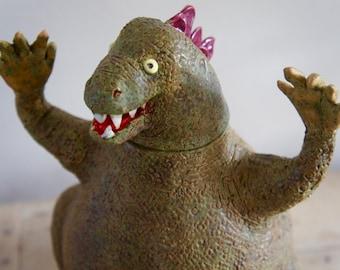 Godzilla Burial Urn by Laina Watt