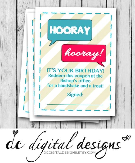 Birthday Card English Espaol Treat 3x4 Gift Lds For Etsy