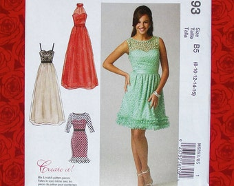 Mccalls Sewing Pattern M6893 Special Occasion Dress Etsy