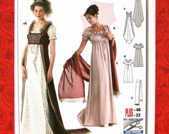 d7d7f8141e Empress Josephine Burda Sewing Pattern 2493 Empire Waist Ball Gown