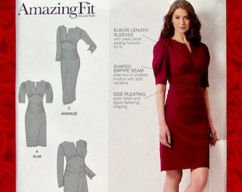 f9bcac411610 Simplicity Sewing Pattern 8734 Amazing Fit Knit Dress Empire Waist