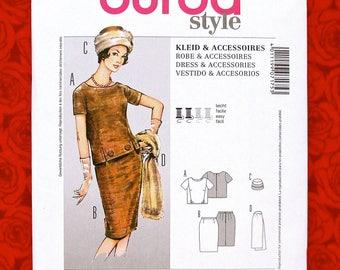 afc815fa Burda Sewing Pattern 7175, 2-Piece Dress, Fur Hat, Stole Wrap, MCM 1950's  Style Clothing Accessories, Misses' Sizes 10 12 14 16 18 20, UNCUT