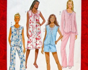 Butterick Easy Sewing Pattern B6225 Nightgowns b1bae3506