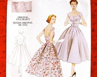 2a88930571c6 Vogue Sewing Pattern V2960 Dress 1950 s New Look Style