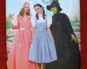 Wizard of Oz Costume Sewing Pattern Simplicity 4136 Dorothy Glinda Wicked Witch West Miss Plus Sizes 14 16 18 20 22 Halloween Party UNCUT  sc 1 st  Etsy & Glinda cosplay | Etsy