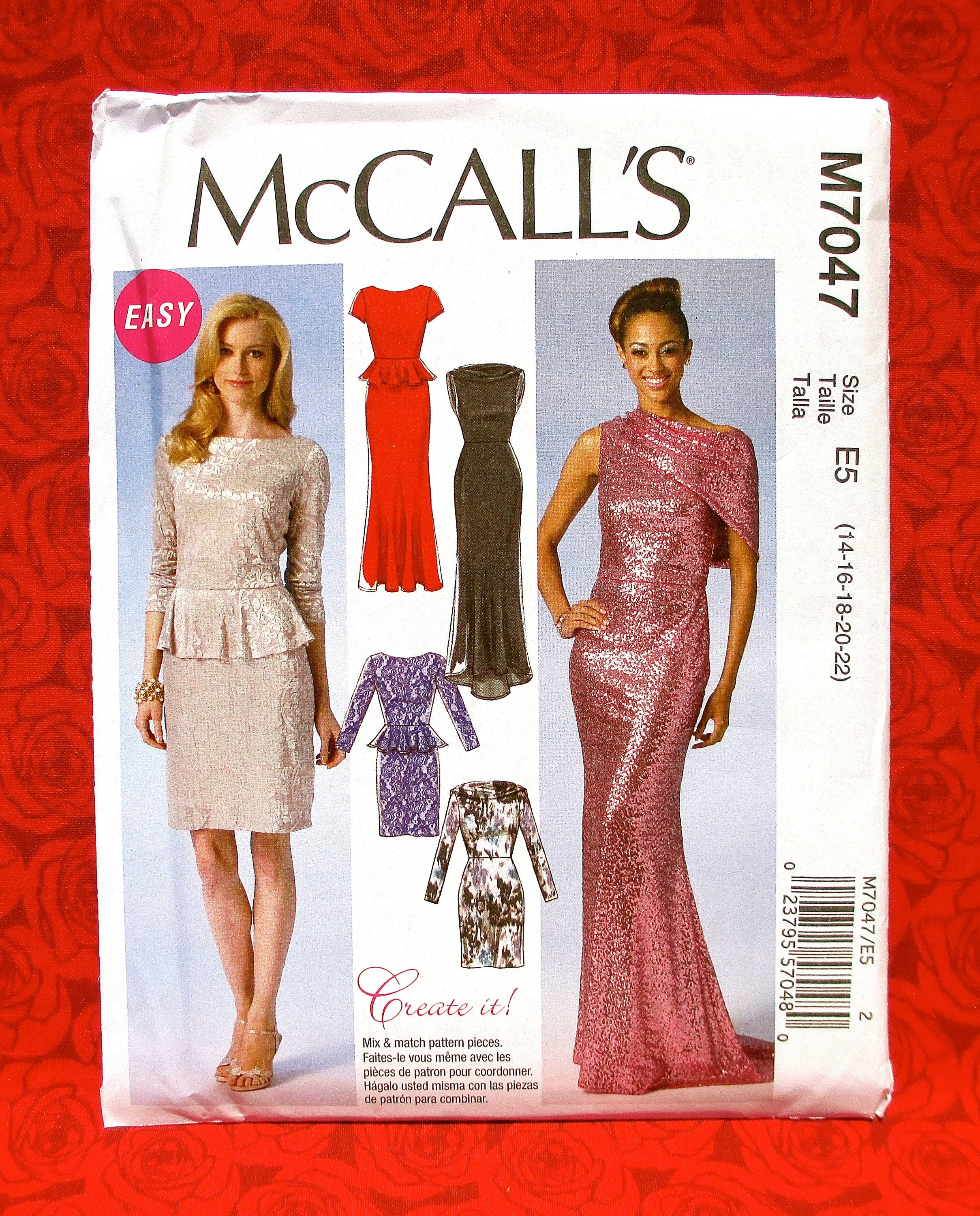 McCall\'s Easy Sewing Pattern M7047 Evening Gown Special | Etsy