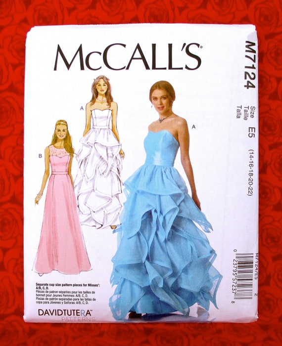 McCall\'s Sewing Pattern M7124 Formal Gown Sweetheart | Etsy