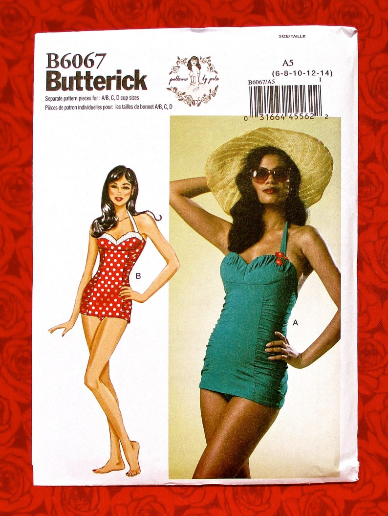 818530749bf8f Butterick Sewing Pattern B6067 One Piece Swimsuits Retro | Etsy