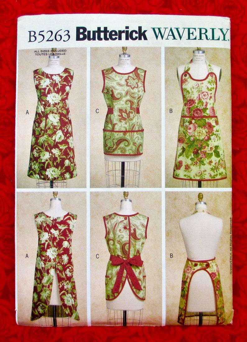 Simplicity Creative Patterns 1221 Misses Vintage Aprons S-M-L A