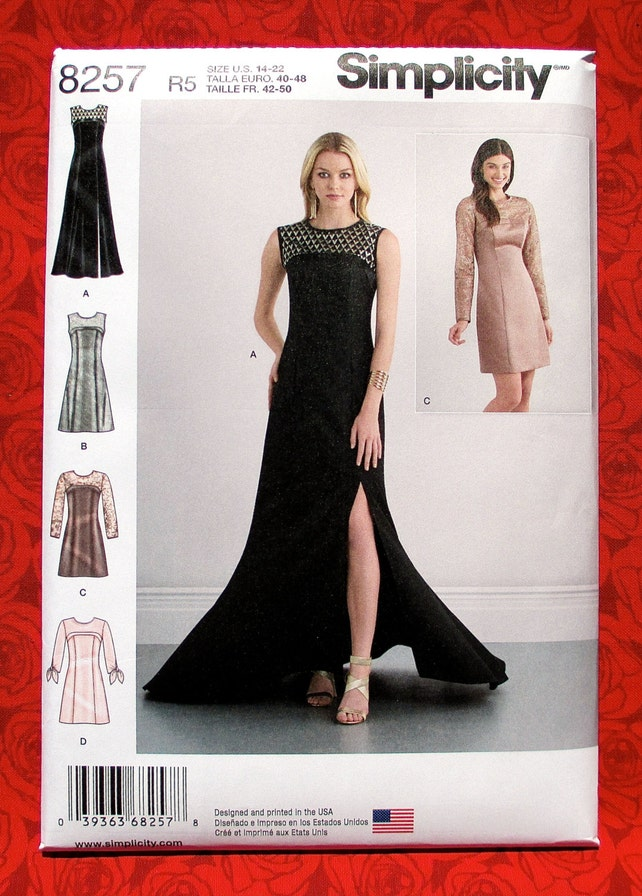 Simplicity Sewing Pattern 8257 Evening Gown Semi-Formal | Etsy