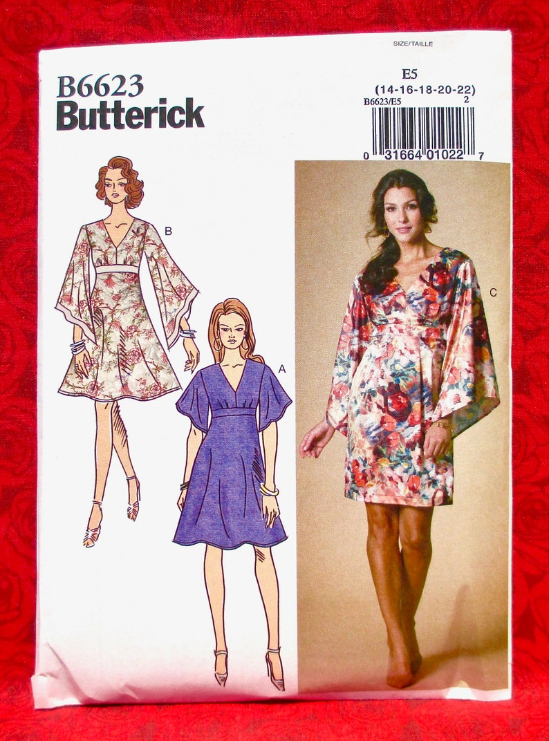 92067a03be Butterick Easy Sewing Pattern B6623 Dress Empire Waist