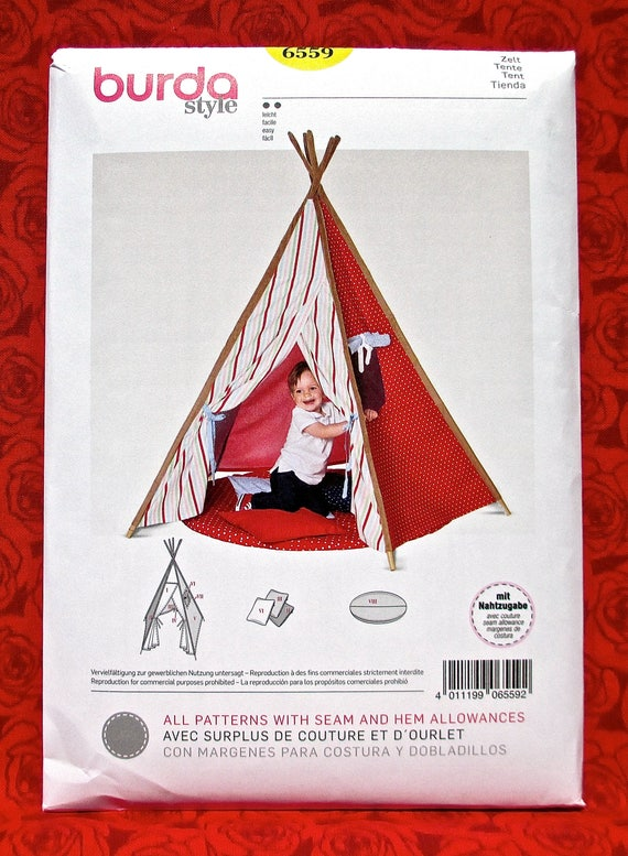 Burda Sewing Pattern 6559 Teepee Tent Playhouse Wigwam Tipi | Etsy