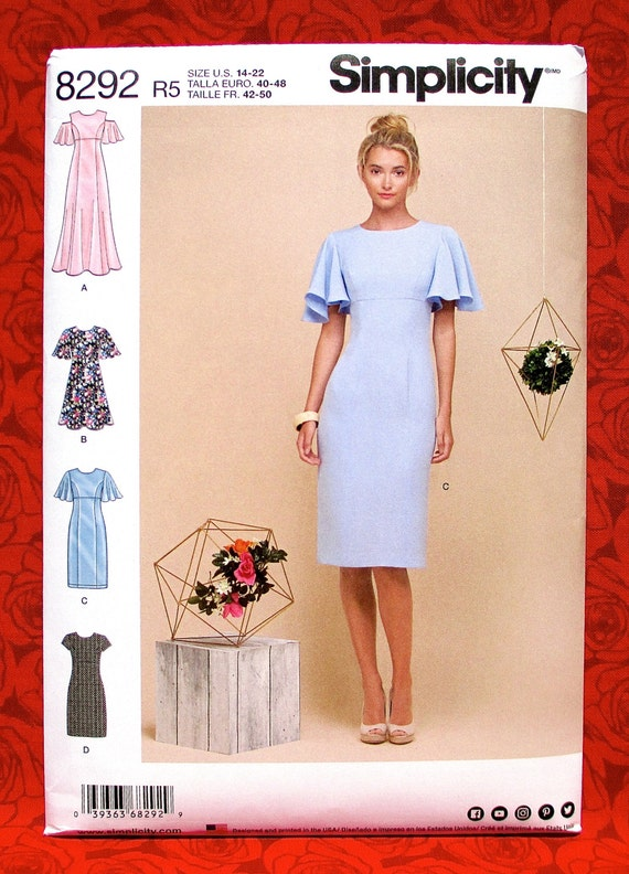 Simplicity Sewing Pattern 8292 Special Occasion Dress Evening Etsy