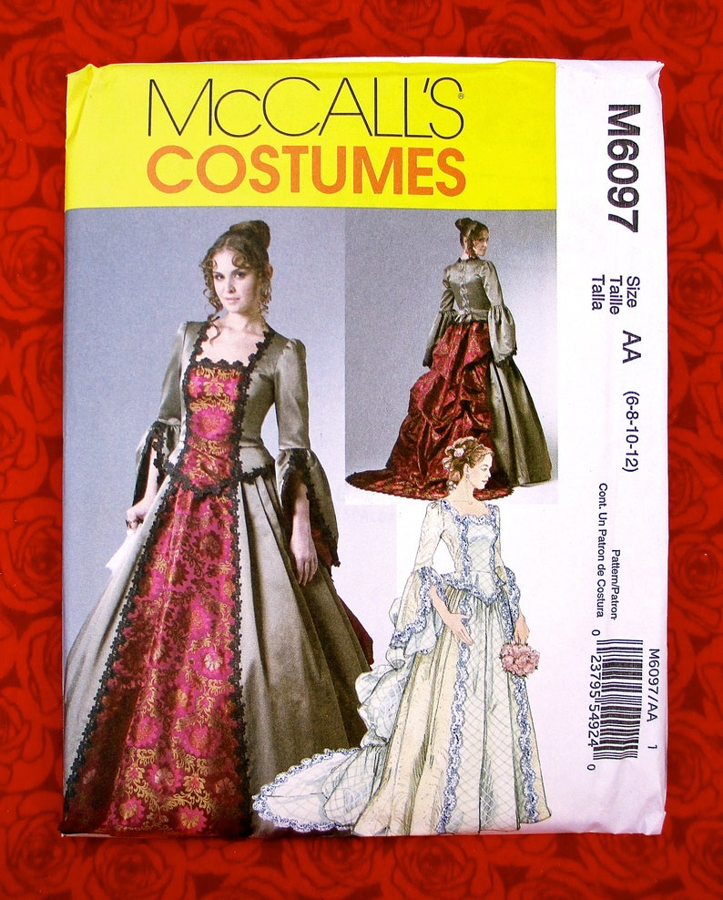 e7e5cb032c9 McCall s Costume Sewing Pattern M6097 Ball Gown Victorian