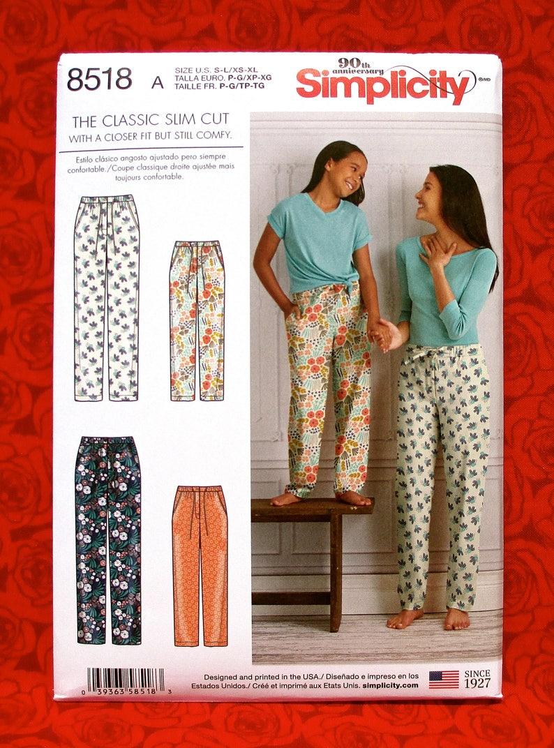 Simplicity Sewing Pattern 8518 Slim Fit Lounge Pants  f979543bd