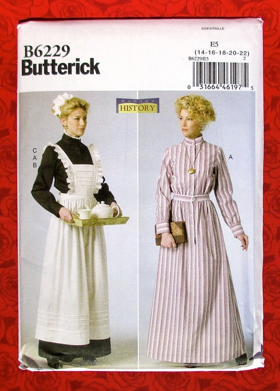 Butterick Sewing Pattern B6229 Victorian Edwardian Dress | Etsy