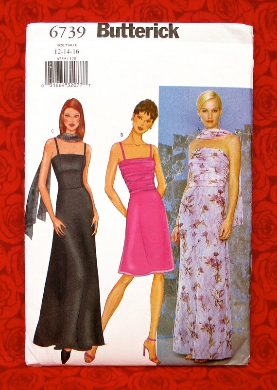 Butterick Sewing Pattern B6739 Special Occasion Dress Evening Etsy