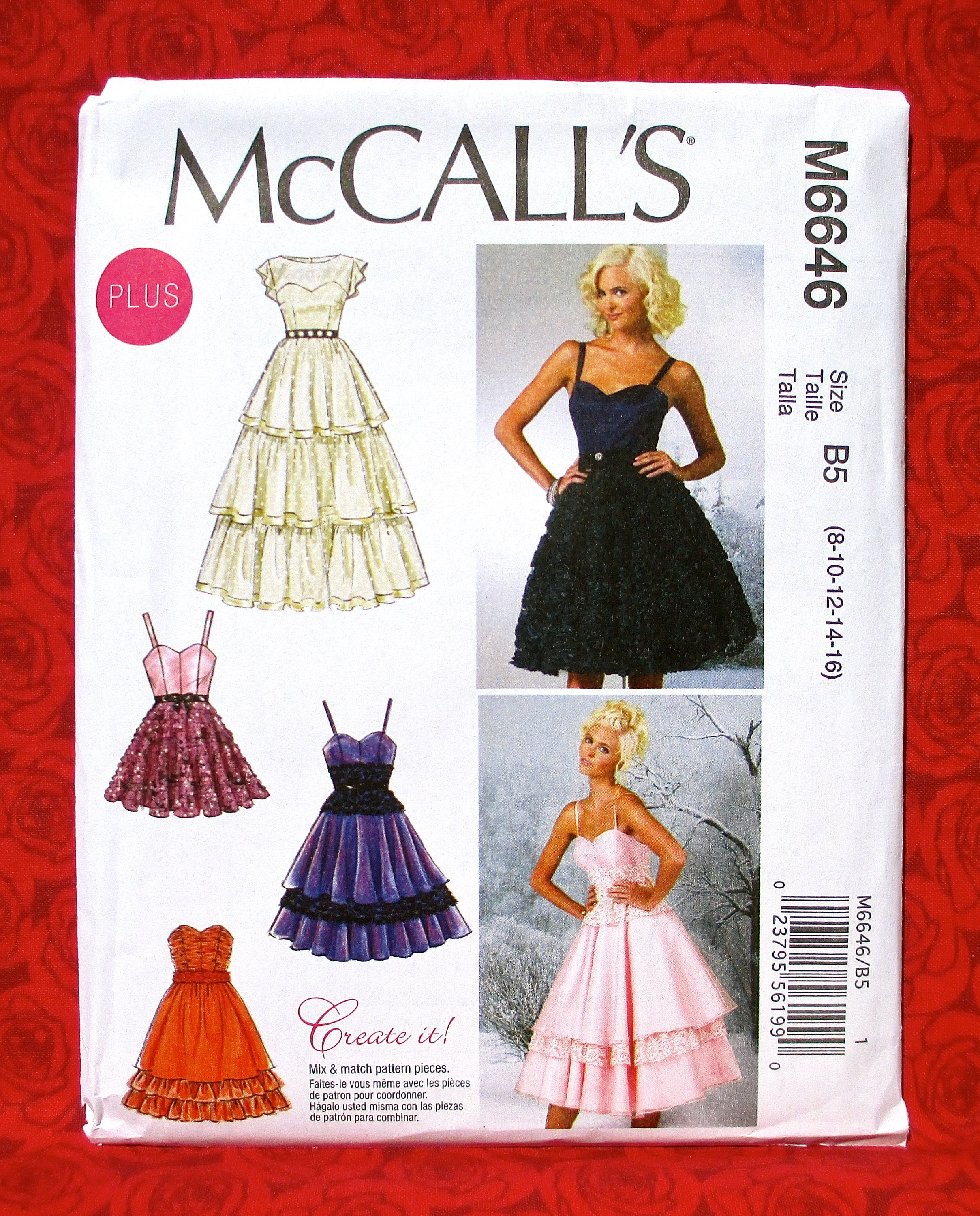 McCall\'s Sewing Pattern M6646 Sweetheart Neckline Dress   Etsy