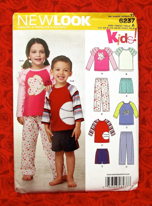 d8d6ee672 New Look Sewing Pattern 6237 Sleepwear Pajamas Top Pants
