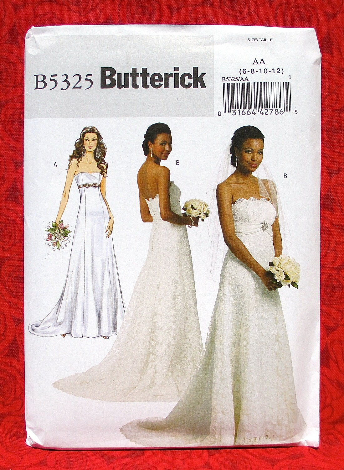 Butterick Sewing Pattern B5325 Bridal Gown Strapless Wedding | Etsy