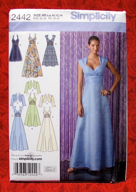 Simplicity Sewing Pattern 2442 Dress Bolero Jacket Formal