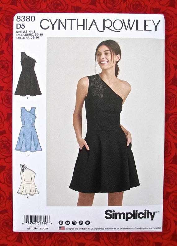 Simplicity Sewing Pattern 8380 Knit Dress Peplum Top One | Etsy